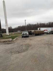 Loads of Hay leaving Midway Truck Stop Friday morning